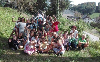 Pozdrav četrtošolcev iz šole v naravi